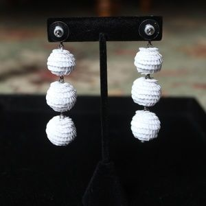 Fun white drop earrings